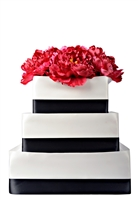 Styrofoam 3 tier Square Cake Display - 12 Inches