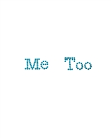 Rhinestone Me Too Print Wedding Shoe Stickers - Blue