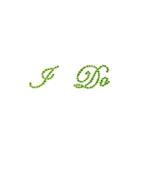Rhinestone I Do Classic Wedding Shoe Stickers - Green