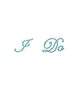 Rhinestone I Do Classic Wedding Shoe Stickers - Pearl Blue