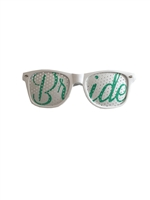 Bride (Green) Wedding Party Glasses