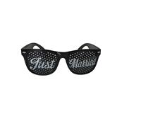 Just Married Wedding Party Glasses (Black)