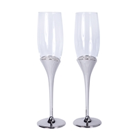 Regal Collection Toasting Flutes in Silver