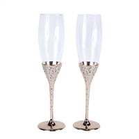 Crystal Collection Toasting Flutes in Gold