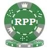 Custom Poker Chips - Green Hot Stamped Tri-Color Triple Crown