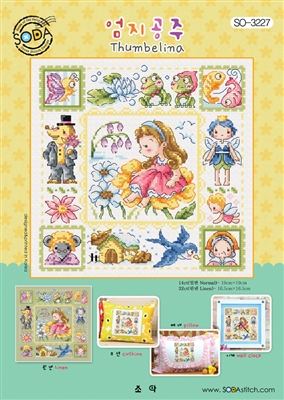 SO-3227 Thumbelina Cross Stitch Chart
