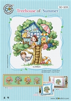 SO-3235 Treehouse of Summer Cross Stitch Chart