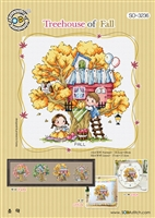 SO-3236 Treehouse of Fall Cross Stitch Chart