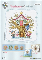SO-3237 Treehouse of Winter Cross Stitch Chart