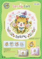 SO-3240 Spring Cat Cross Stitch Chart