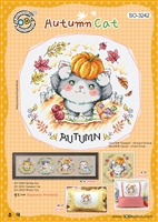 SO-3242 Autumn Cat Cross Stitch Chart