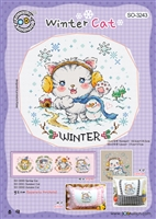 SO-3243 Winter Cat Cross Stitch Chart