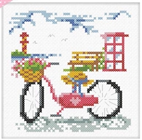 SO-FP27 Bicycle Travel Cross Stitch Chart