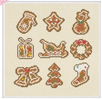 SO-FP32 Christmas and Cookie Cross Stitch Chart