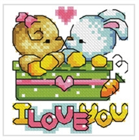 SO-FP4 Teddy and Bunny Cross Stitch Chart