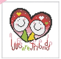 SO-FP8 We are friends Cross Stitch Chart