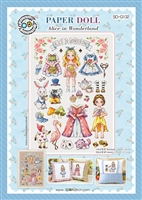 SO-G132 PAPER DOLL-Alice in Wonderland Cross Stitch Chart
