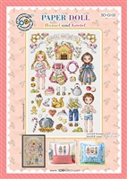 SO-G133 PAPER DOLL-Hansel and Gretel Cross Stitch Chart