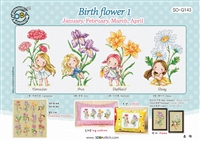 SO-G143 Birth flower 1 Cross Stitch Chart