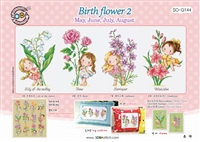 SO-G144 Birth flower 2 Cross Stitch Chart