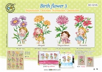 SO-G145 Birth flower 3 Cross Stitch Chart