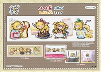 SO-G146 Dessert Bear Cross Stitch Chart