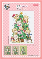 SO-G148 Tree Bear Cross Stitch Chart