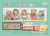 SO-G150 Crafts Bears Cross Stitch Chart