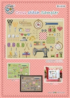 SO-G153 Cross Stitch Sampler Cross Stitch Chart