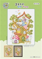 SO-G156 Elf Tree Cross Stitch Chart
