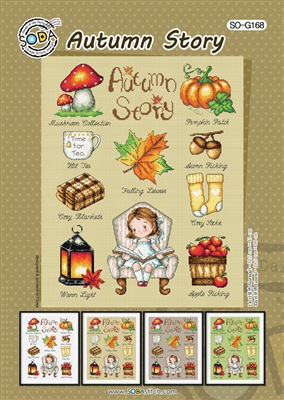 SO-G168 Autumn Story Cross Stitch Chart