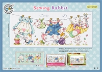 SO-G182 Sewing Rabbit Cross Stitch Chart