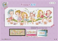 SO-G186 Flower Elf Cross Stitch Chart