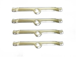 SBC Chrome Valve Cover Spreader Retainer Tab Bars, Small Block, 4 Piece Set