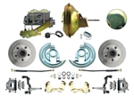 1964 - 1972 Chevelle Power Disc Brake Conversion Kit with 11 inch Delco Stamped Zinc / Gold Booster