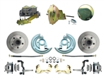 1964 - 1972 Chevelle Power Disc Brake Conversion Kit with 9 inch Delco Stamped Zinc / Gold Booster
