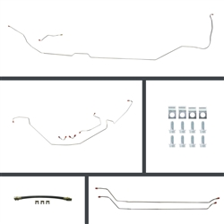 1964 - 1972 Chevelle Complete Brake Line Kit with Rear Brake Hose and Mounting Hardware Set