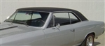 1966 - 1967 Chevelle Vinyl Top 2 Door Hardtop, Black