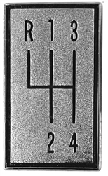 1966 - 1967 Chevelle 4 Speed Pattern Plate