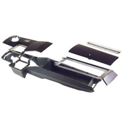 1966 - 1967 Chevelle Console Kit, 4 Speed with Clock and Lock