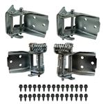 1968 - 1972 Chevelle Door Hinges Set, All 4 Uppers and Lowers With Mounting Bolts