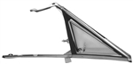 1966 - 1967 Chevelle Vent Wing Window Assembly, Clear Glass, Right Hand
