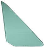 1968 - 1972 Nova Vent Wing Window Glass (Green Tint) (2 Door, Right), Each