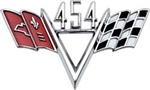 "454 Custom ""V"" Flag Engine Size Emblem"