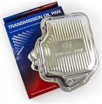 Chrome Transmission Oil Pan, Turbo 400, Original AC Delco GM NOS
