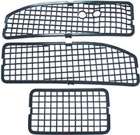 1968 - 1972 Chevelle Cowl Vent Grilles, 3 Piece Set, No Air Conditioning