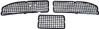 1968 - 1972 Chevelle Cowl Vent Grilles, 3 Piece Set, With Air Conditioning