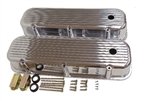 Valve Covers, Big Block, POLISHED ALUMINIUM Finned Classic Ribbed Design