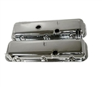 1966 - 1972 Valve Covers, Big Block, Chrome, OE Style but Taller Cheater Version