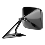 Polished Rectangular Billet Aluminum Side View Mirror with Convex Glass